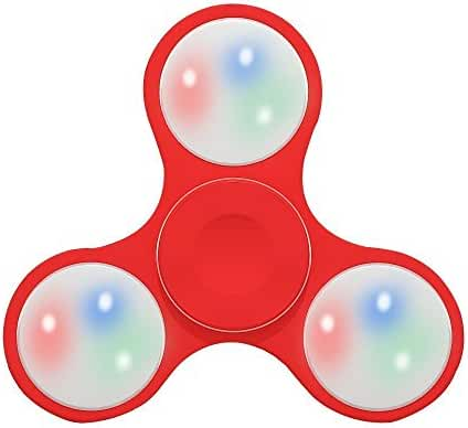 Fidget Spinner Toy Stress Reducer Light Up Switch Control - Red